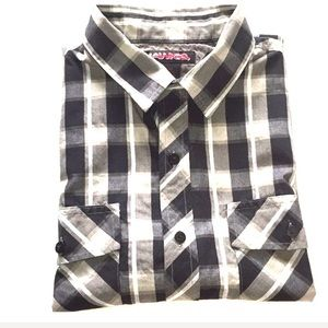 Hawk Men's plaid button shirt